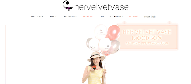 Top Blogshops in Singapore 2014 hervelvetvase