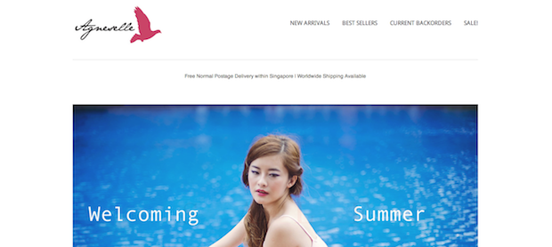 Top Blogshops in Singapore 2014 Agneselle