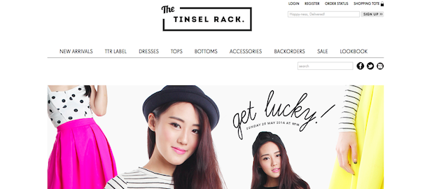 Top Blogshops in Singapore 2014 The Tinsel Rack